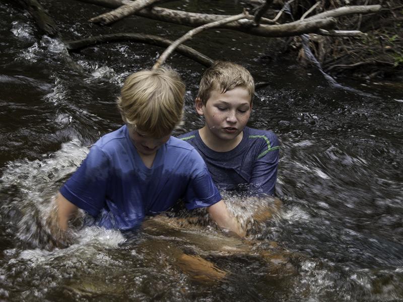 Earth Day, Unschool, Creek